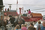 Every town loves a parade and Somers Point is no exception. That's Greg Gregory, co-owner of Gregory's, in the top hat along with the beautiful Clydesdales.