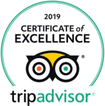 Trip Advisor's Certificate of Excellence 2019